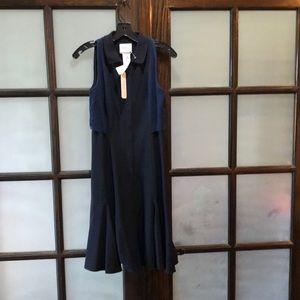 AKris Punto Sleeveless Black and Blue Dress Size 4